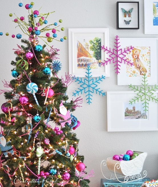 54 Colorful Christmas Inspiring Decor