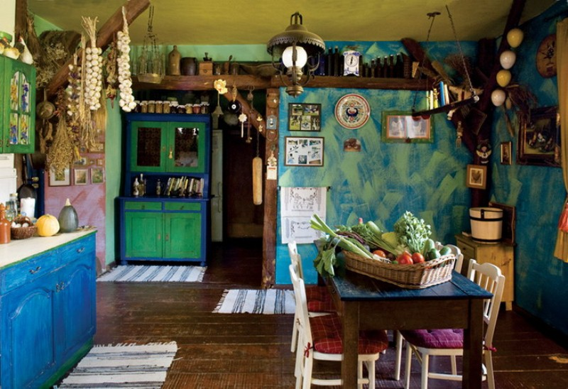 Colorful Fairy Tale House With Vintage Furniture