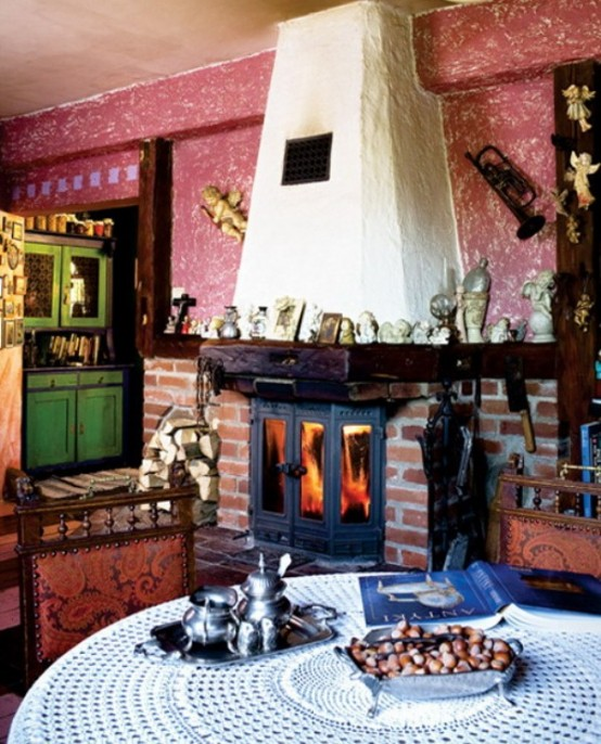 Colorful Gingerbread House With Vintage Furniture