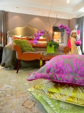 Colorful Glamour Bedroom