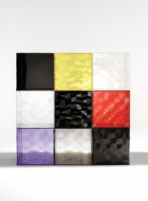 Colorful Glass Drawers That Can Form An Art Object