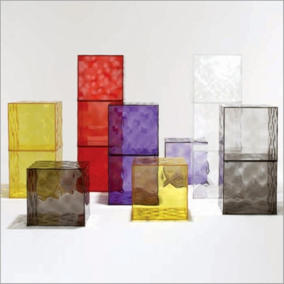 Colorful Glass Drawers