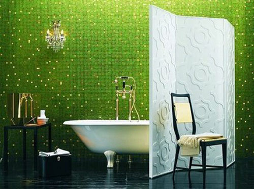 Colorful Green Bathroom