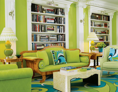Colorful Green Living Room