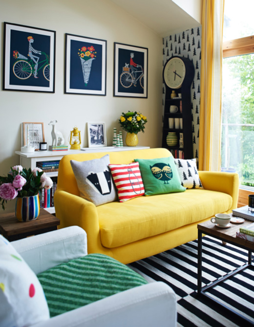 colorful house decor with shabby chic details - digsdigs