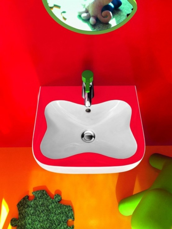 Colorful Kids Bathroom Furniture