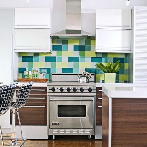 36 colorful and original kitchen backsplash ideas digsdigs for Carrelage mural original