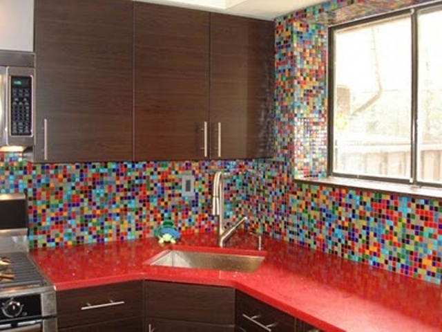 colourful kitchen tiles 36 colorful and original kitchen backsplash ideas digsdigs 2373