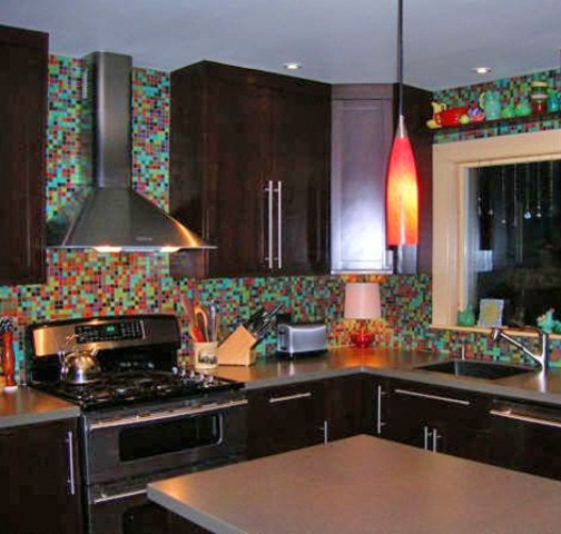 Colorful Kitchen Backsplash Tile