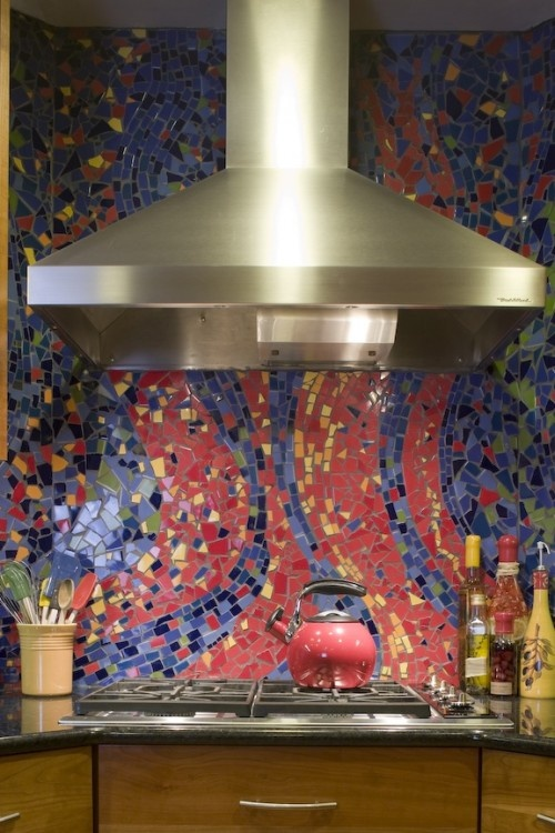 colorful kitchen tiles 36 colorful and original kitchen backsplash ideas digsdigs 2353