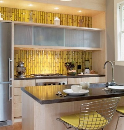 36 colorful and original kitchen backsplash ideas digsdigs for Contemporary kitchen tiles ideas