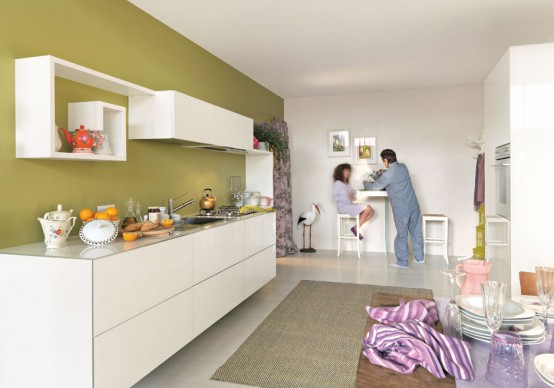 Colorful Kitchen Cabinets Combinations