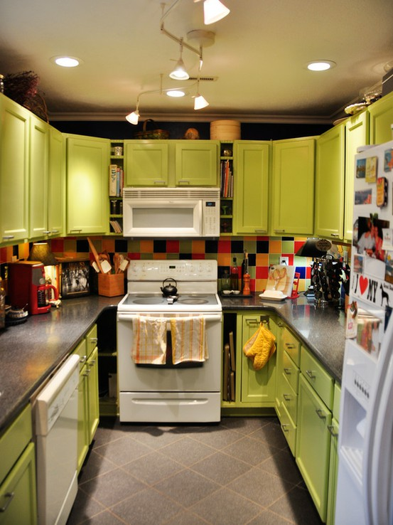 Colorful Lime Green Kitchen