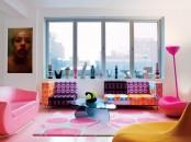 Colorful Living Room Designed By Karim Rashid