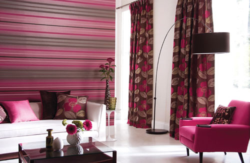 Colorful Living Room With Stripes