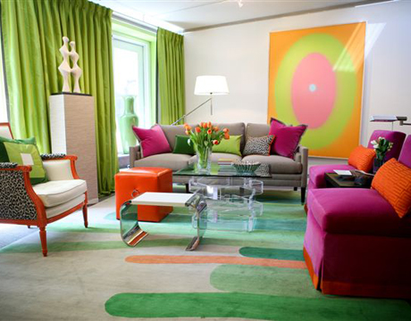 Living Room on Colorful Living Room