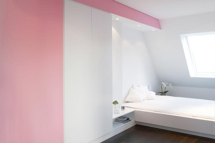 Colorful Loft Design With Unique Wall Structure Stargarder - Colorful loft design with unique wall structure stargarder strasse by graft
