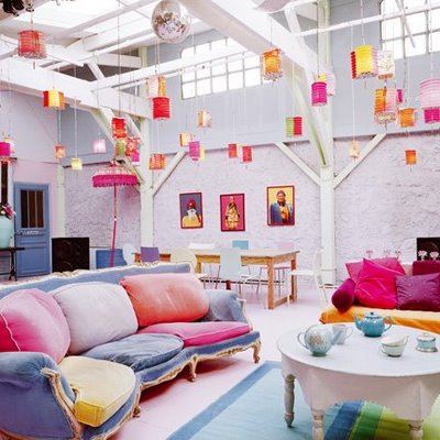 Colorful Loft Space