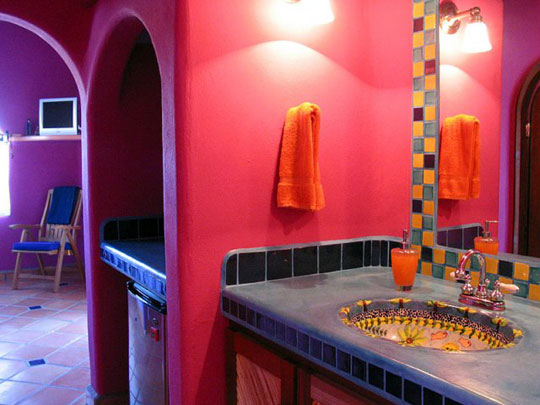Colorful Mexican Bathroom
