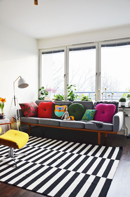 26 Ways To Use IKEA Stockholm Rug For Home Decor - DigsDigs