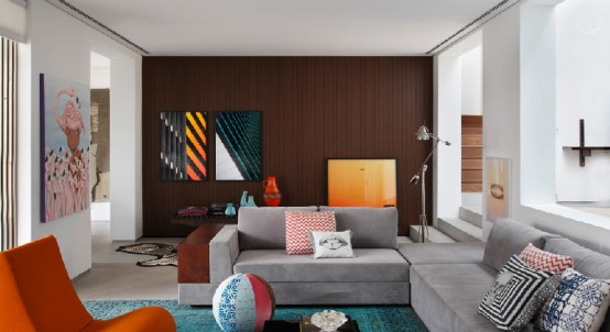 Colorful Mid-Century Modern House By Guilherme Torres