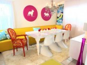 Colorful Modern Dining Room