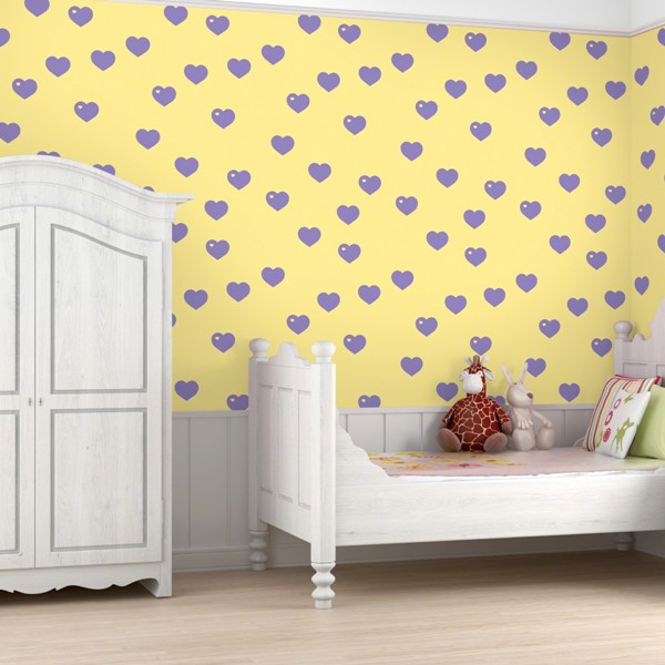 Colorful patterned wallpapers for kids rooms by allison for Kids room wall paper
