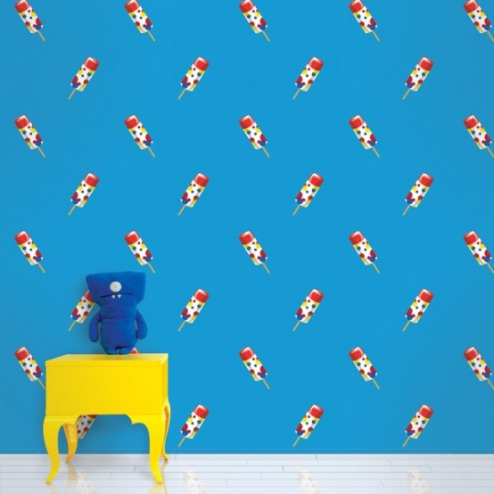 Colorful Patterned Wallpapers For Kids Rooms