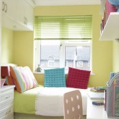 Colorful Small Teen Bedroom