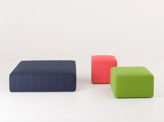 Colorful, Soft and Cosy Poufs – Quartier by Claesson Koivisto Rune