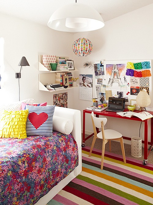 69 colorful bedroom design ideas digsdigs - Colorful teen bedroom designs ...