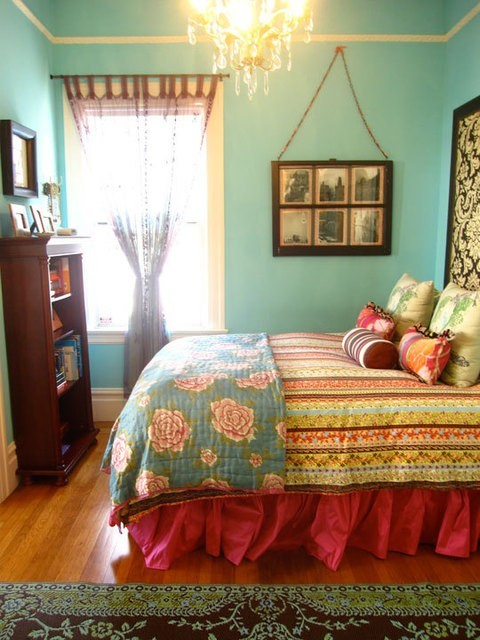 Colorful Traditional Bedroom