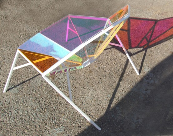 Brilliant-Shaped Colorful Transparent Chair