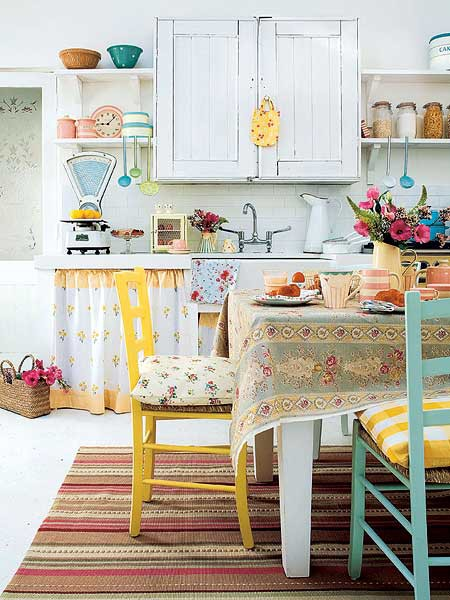 Colorful Vintage Kitchen