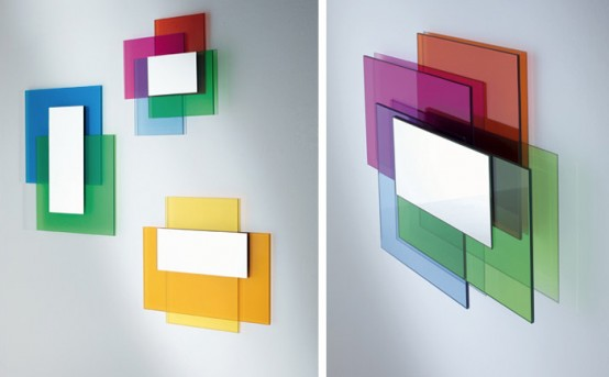 Colorful Laminated Glass Mirrors – Colour on Colour by Glass Italia
