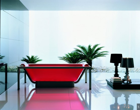 Coloured Glossy Acrylic Bathtub By Allia