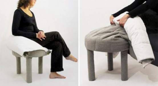Comfortable And Delicate Footrest And Blanket In One