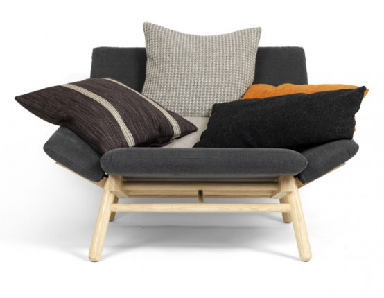 Comfortable And Inviting Sofa With Pillows by Källemo