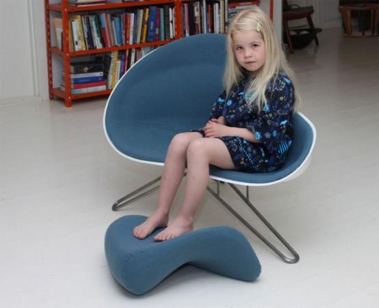 Comfortable Half Chair Half Sofa With Pillow