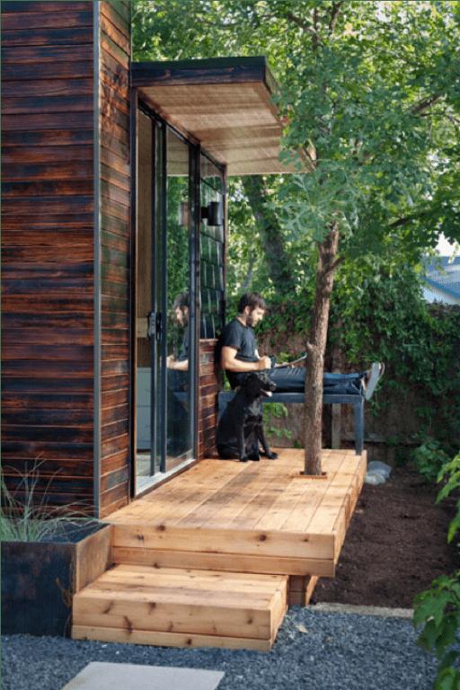 Comfortable Prefab House As A Work Space