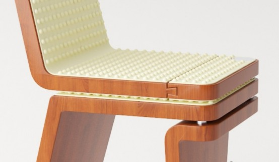 Comfortable Transformable Chair Of Organic Materials