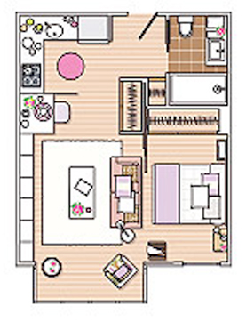 How To Design 40 Square Meter Apartment Comfy Digsdigs