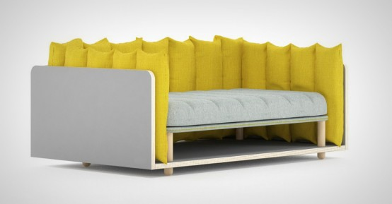 Comfy And Customizable Re Cinto Sofa Resembling French Fries