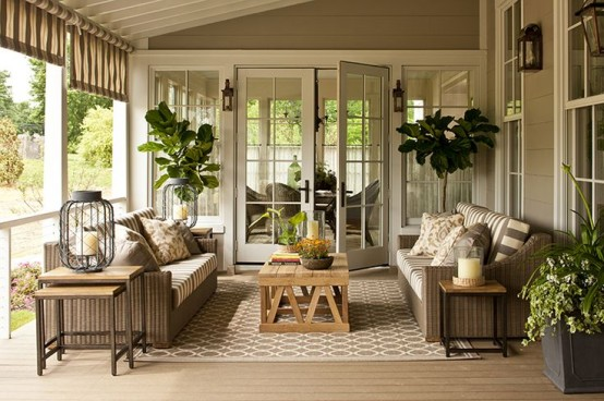 Comfy And Relaxing Screened Patio Design Ideas · Back Porch2013 Idea House,  Nashville, TN