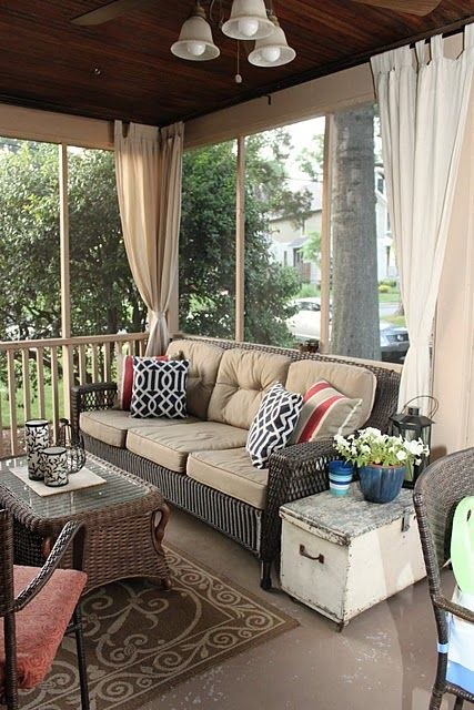 Screened In Porch Design Ideas screen porch with outdoor rug Comfy And Relaxing Screened Patio Design Ideas