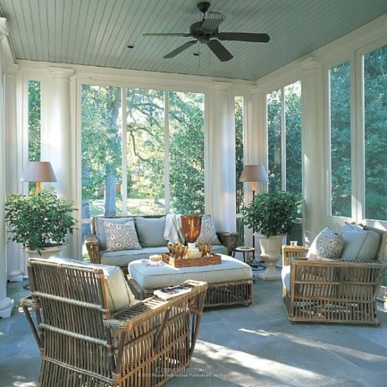 Enclosed Porch Decorating Ideas: 36 Comfy And Relaxing Screened Patio And Porch Design