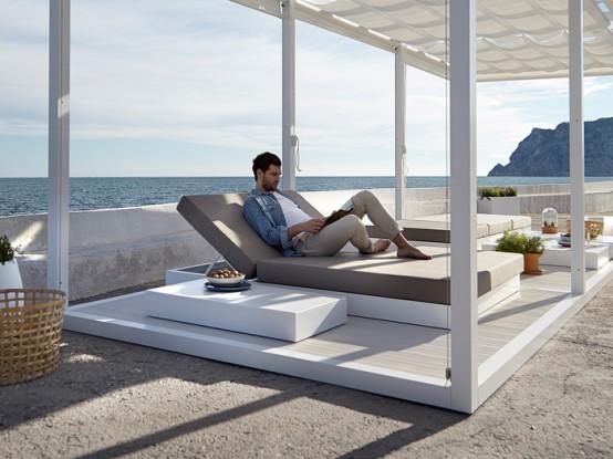 Comfy and stylish outdoor furniture by gand a blasco - Gandia blasco fundas nordicas ...