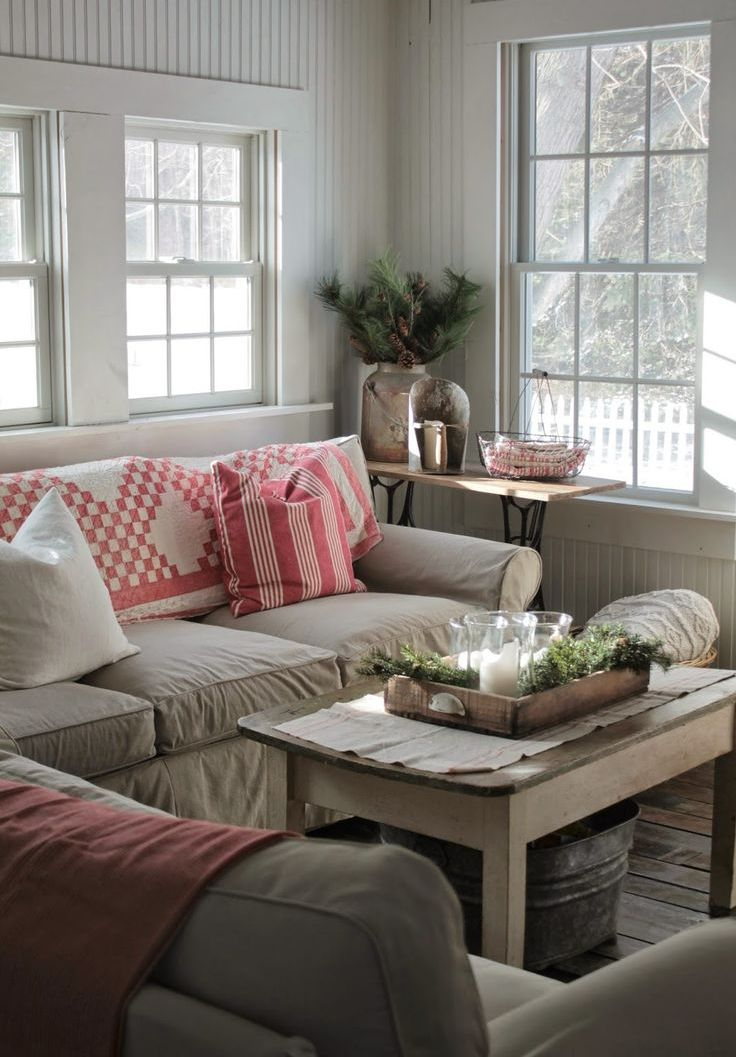 Farmhouse Living Room Decor Ideas: Source : Pinterest