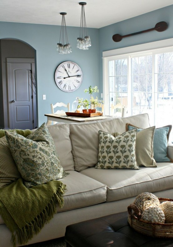 Colour Designs For Living Room: 45 Comfy Farmhouse Living Room Designs To Steal