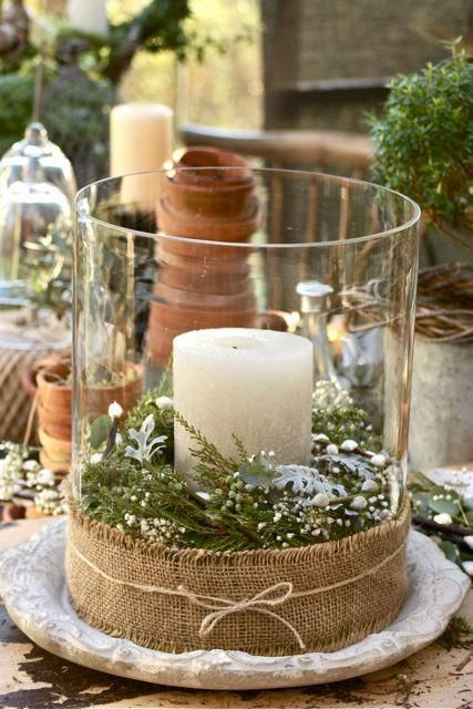 40 comfy rustic outdoor christmas d cor ideas digsdigs - Pinterest deco table ...